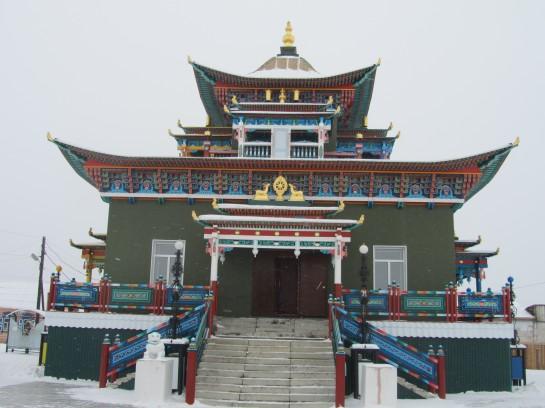 Un temple tout vert